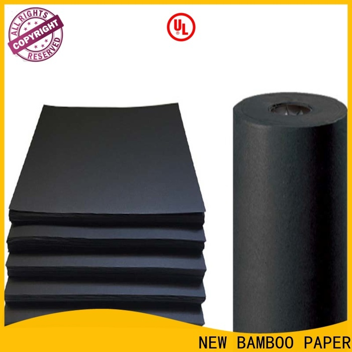 NEW BAMBOO PAPER hot-sale black chipboard bulk production for shopping bag