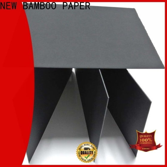 NEW BAMBOO PAPER quality Solid black board for paper bags
