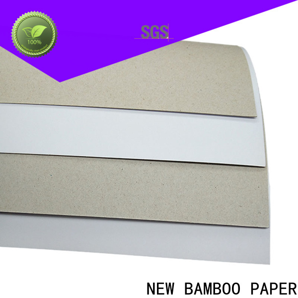 NEW BAMBOO PAPER useful duplex board with grey back free design for crafts
