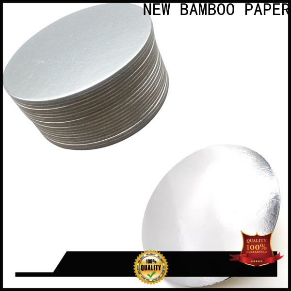 NEW BAMBOO PAPER foil cake boards gold from manufacturer for pastry packaging