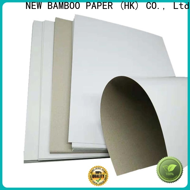 NEW BAMBOO PAPER new-arrival duplex board grey back factory price for box packaging