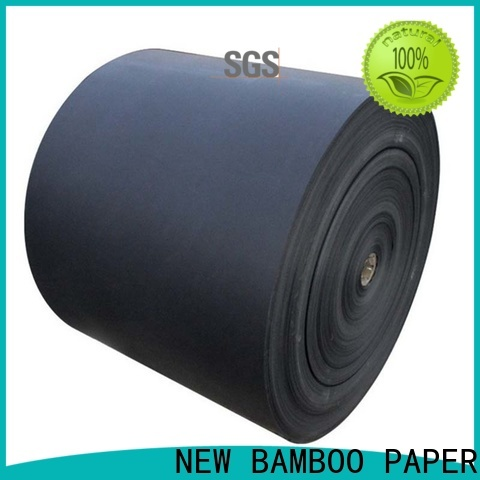 NEW BAMBOO PAPER back black chipboard free quote for shopping bag