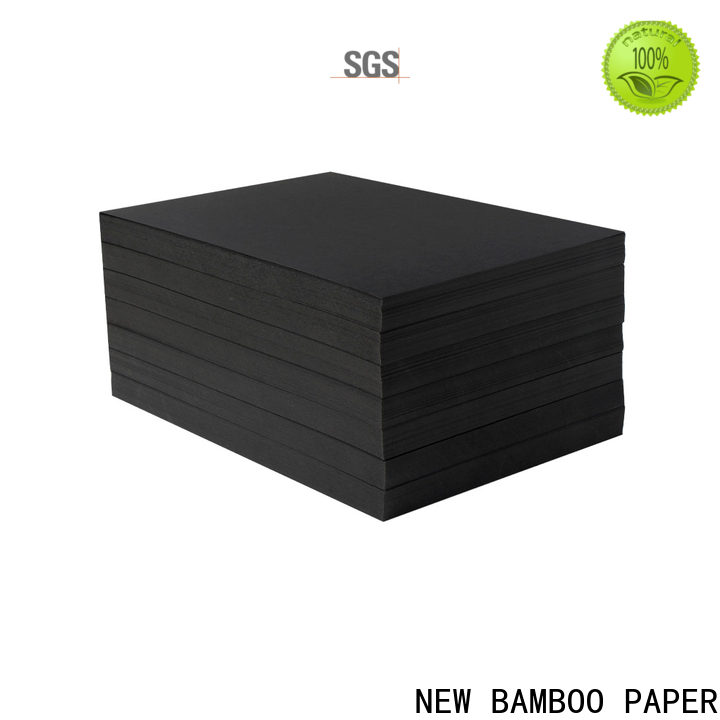 NEW BAMBOO PAPER bag black cardboard supplier for booking binding