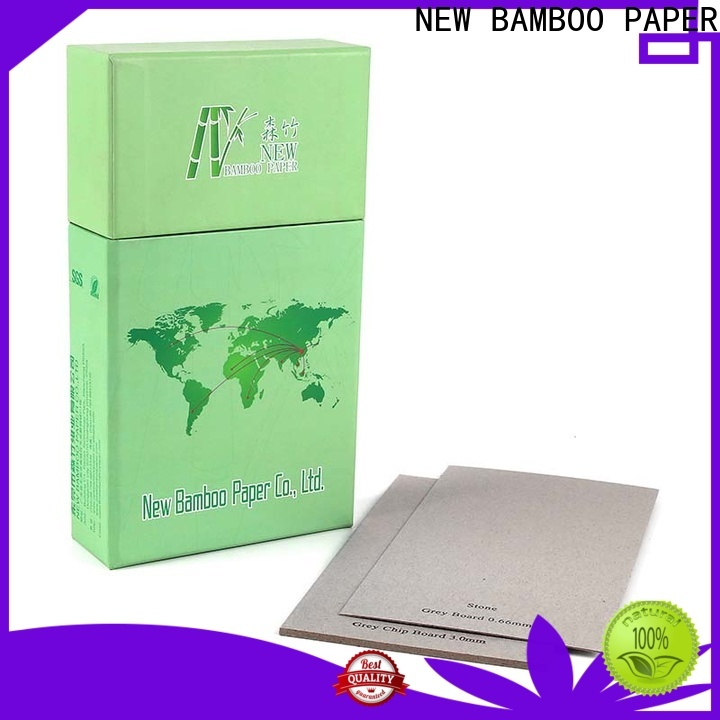 NEW BAMBOO PAPER boxes gray chipboard factory price for book covers