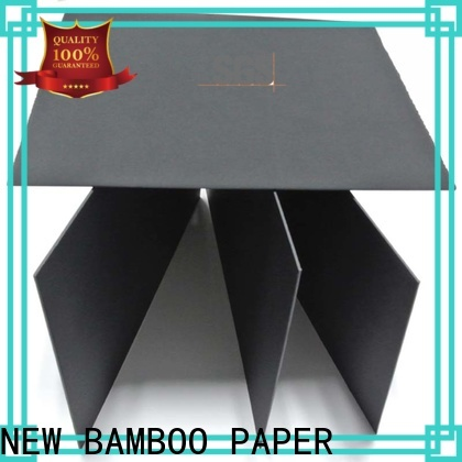 NEW BAMBOO PAPER quality sturdy black board free design for paper bags