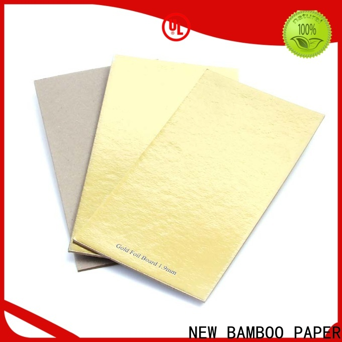 NEW BAMBOO PAPER gold cake board foil paper for wholesale for packaging