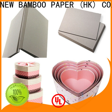 NEW BAMBOO PAPER chipboard carton gris 2mm free design for boxes
