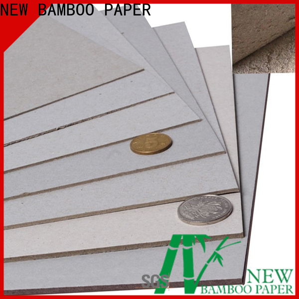 NEW BAMBOO PAPER high-quality laminated grey board at discount for book covers