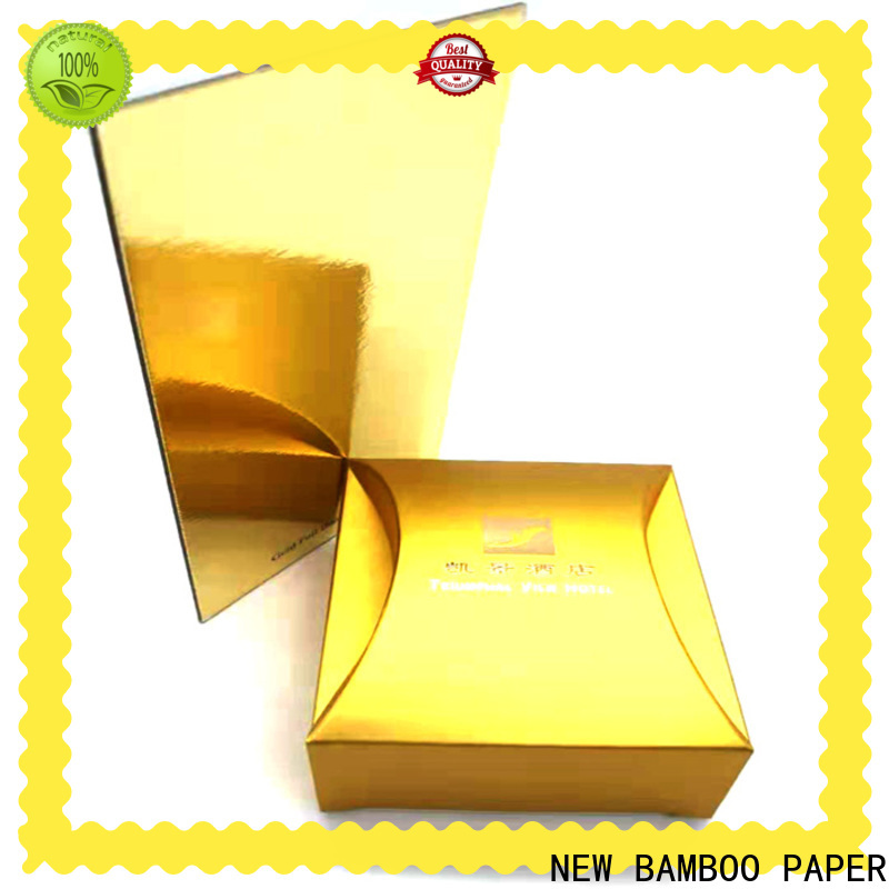 NEW BAMBOO PAPER paperboard metallic gold poster board free quote for stationery