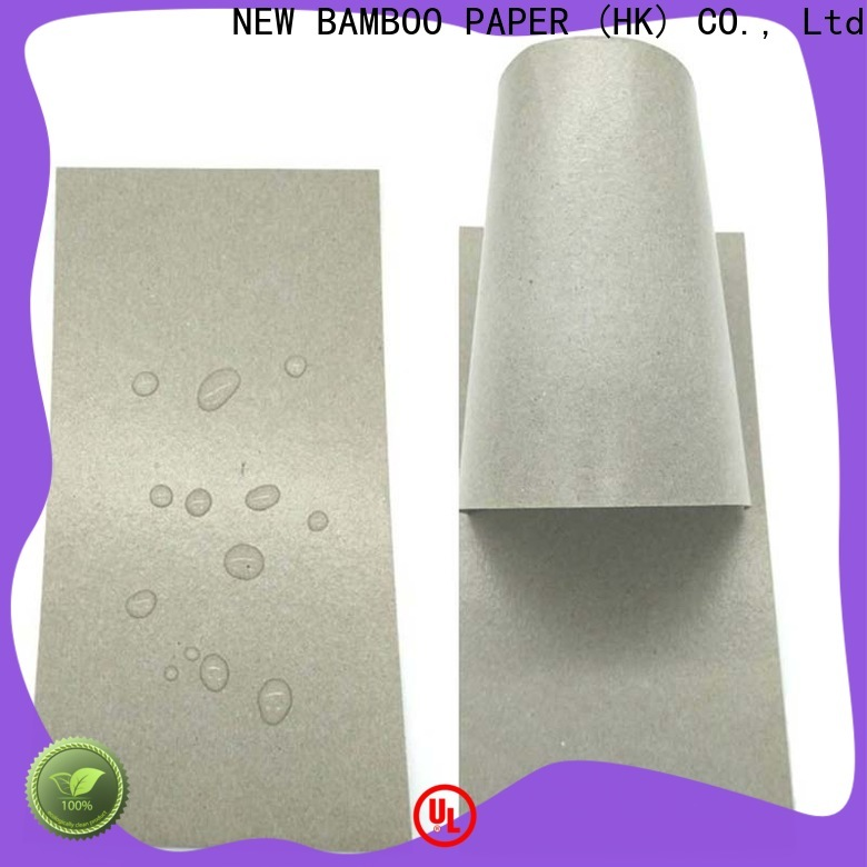 NEW BAMBOO PAPER high-quality pe coated paper sheet for trash cans