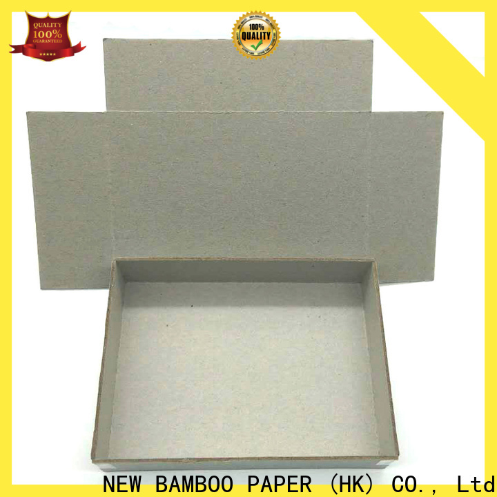 NEW BAMBOO PAPER newly 2mm grey board from manufacturer for boxes