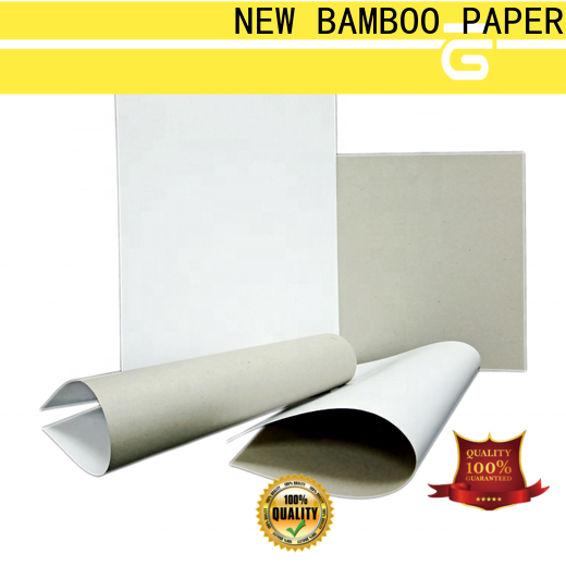 NEW BAMBOO PAPER pulp duplex board price factory price for crafts