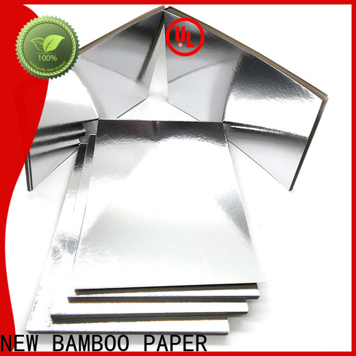 NEW BAMBOO PAPER goldensilver  metallic poster board free quote for bread packaging