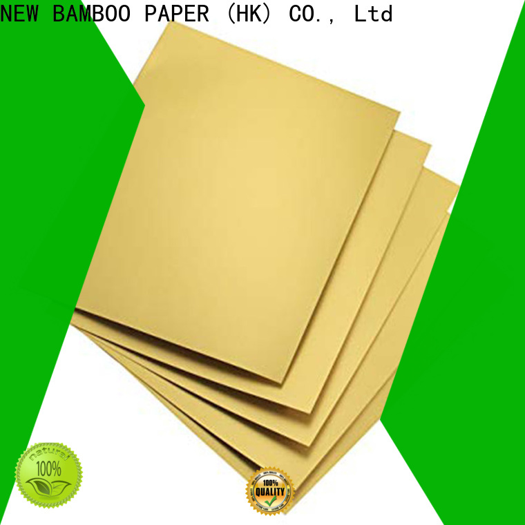 NEW BAMBOO PAPER paperboard foil board printing order now for bread packaging