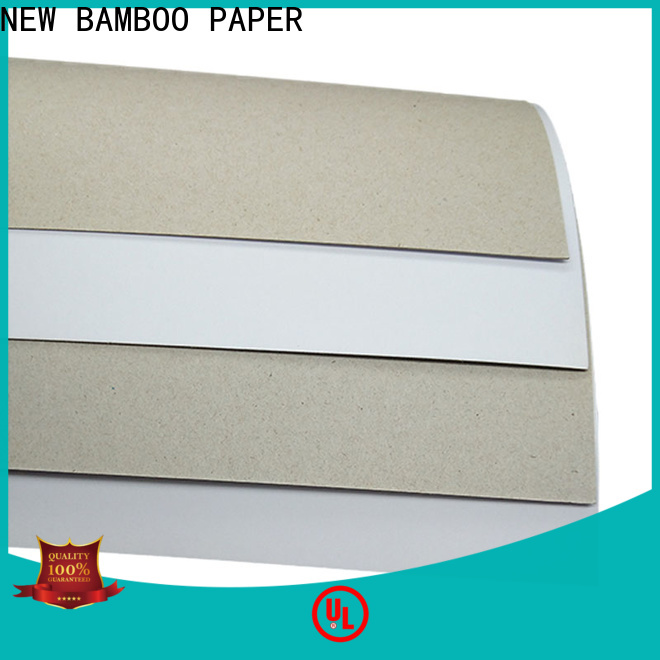 NEW BAMBOO PAPER back duplex board sizes free quote for box packaging
