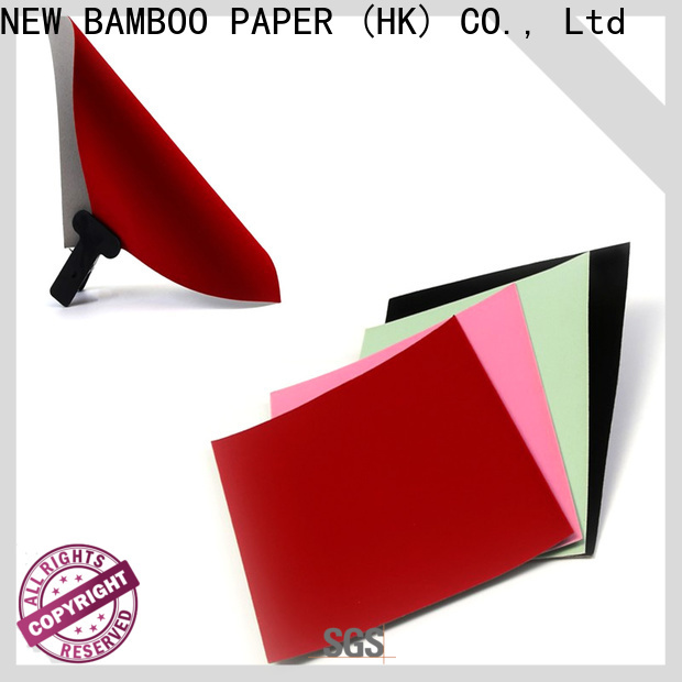NEW BAMBOO PAPER newly black flocking paper  manufacturer for packaging