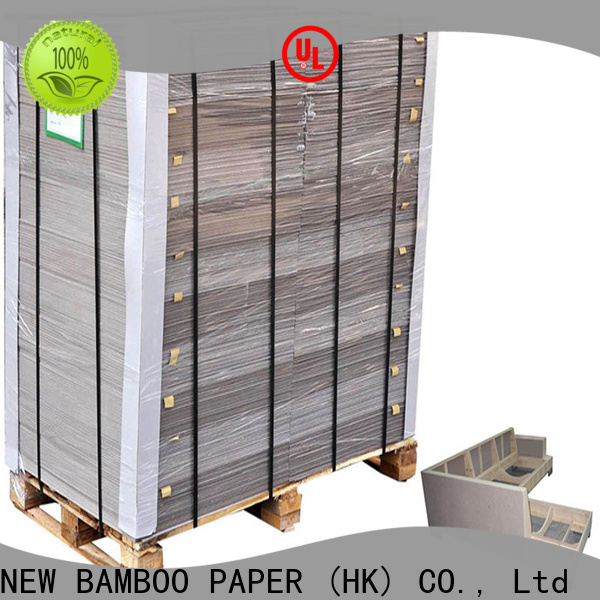 NEW BAMBOO PAPER thick carton gris 2mm bulk production for boxes