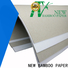 NEW BAMBOO PAPER coated duplex board gray back order now for printing industry