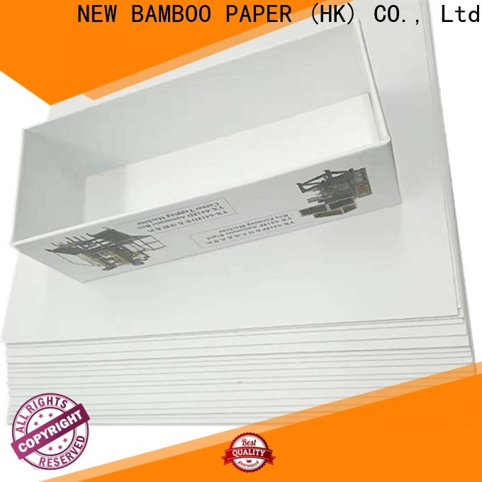 NEW BAMBOO PAPER coated duplex board order now for cloth boxes