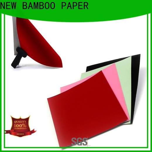 NEW BAMBOO PAPER excellent velvet cardboard sheets supplier for decoration