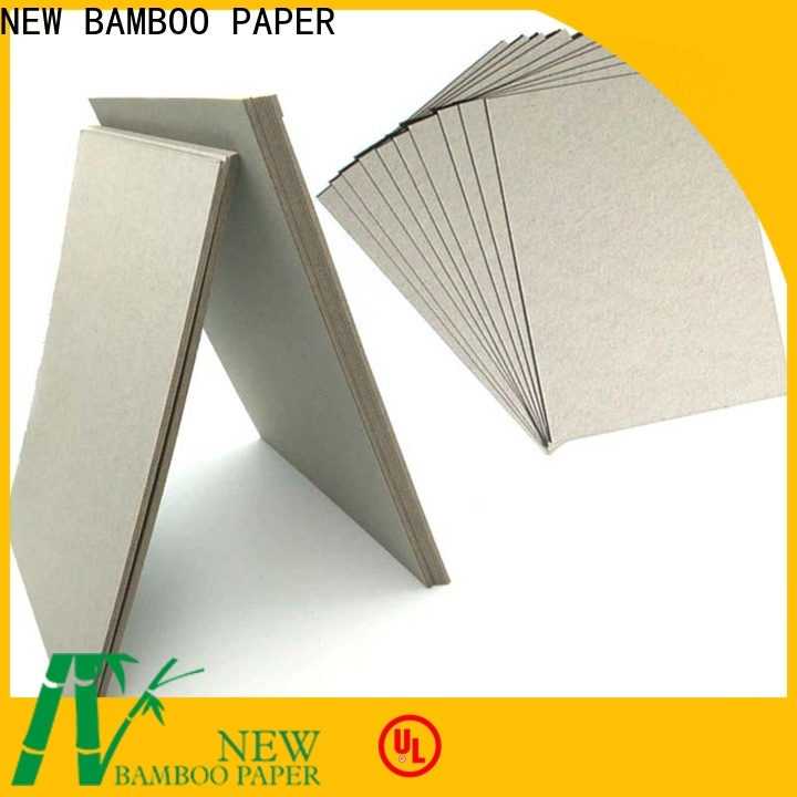 NEW BAMBOO PAPER solid grey chipboard at discount for hardcover books