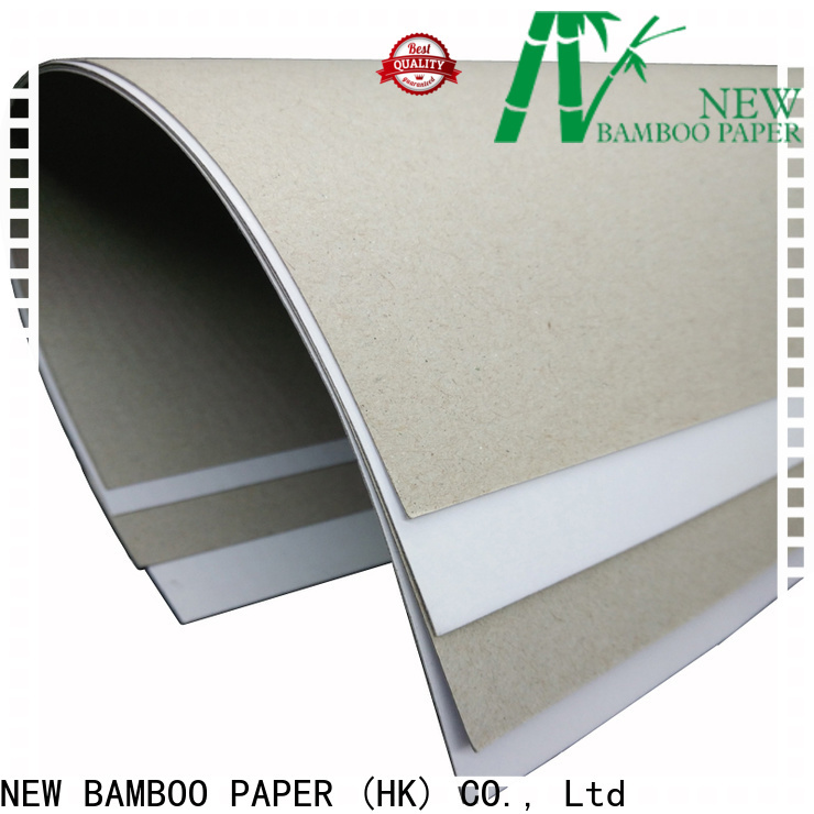 NEW BAMBOO PAPER grey duplex paper sheet for box packaging