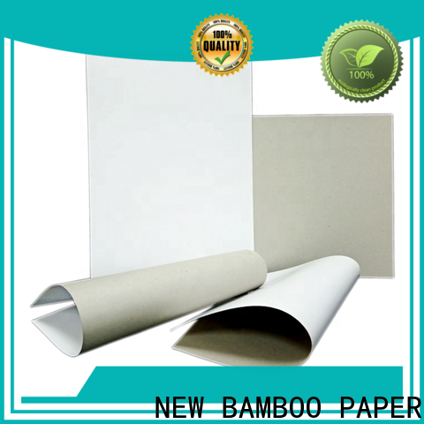 NEW BAMBOO PAPER sheets duplex board factory price for soap boxes