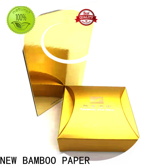 NEW BAMBOO PAPER first-rate metallic paper sheets long-term-use for dessert packaging