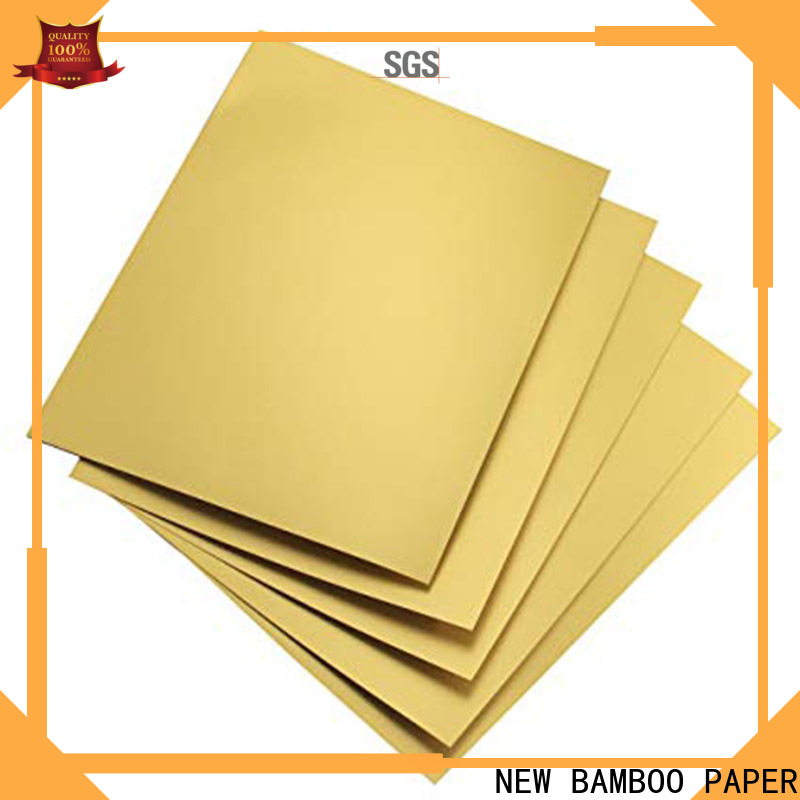 NEW BAMBOO PAPER fine- quality metallic foil paper free design for bread packaging