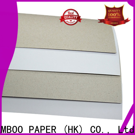 NEW BAMBOO PAPER white duplex board gray back factory price for cereal boxes