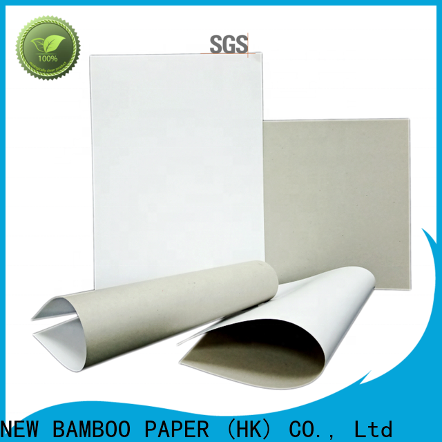 NEW BAMBOO PAPER package duplex board white back factory price for cereal boxes