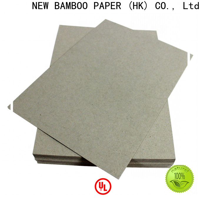 NEW BAMBOO PAPER folding grey chipboard sheets free design for desk calendars