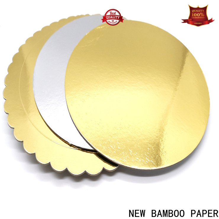 NEW BAMBOO PAPER goldensilver Custom Cake Boards long-term-use for paper bags