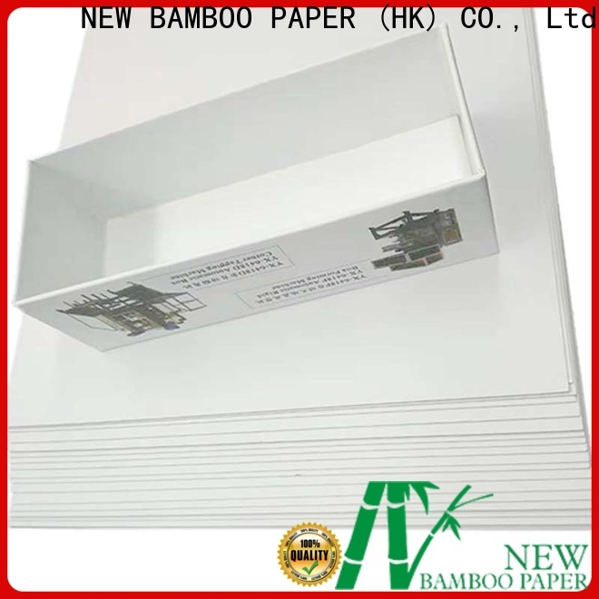 NEW BAMBOO PAPER nice duplex board with grey back bulk production for crafts