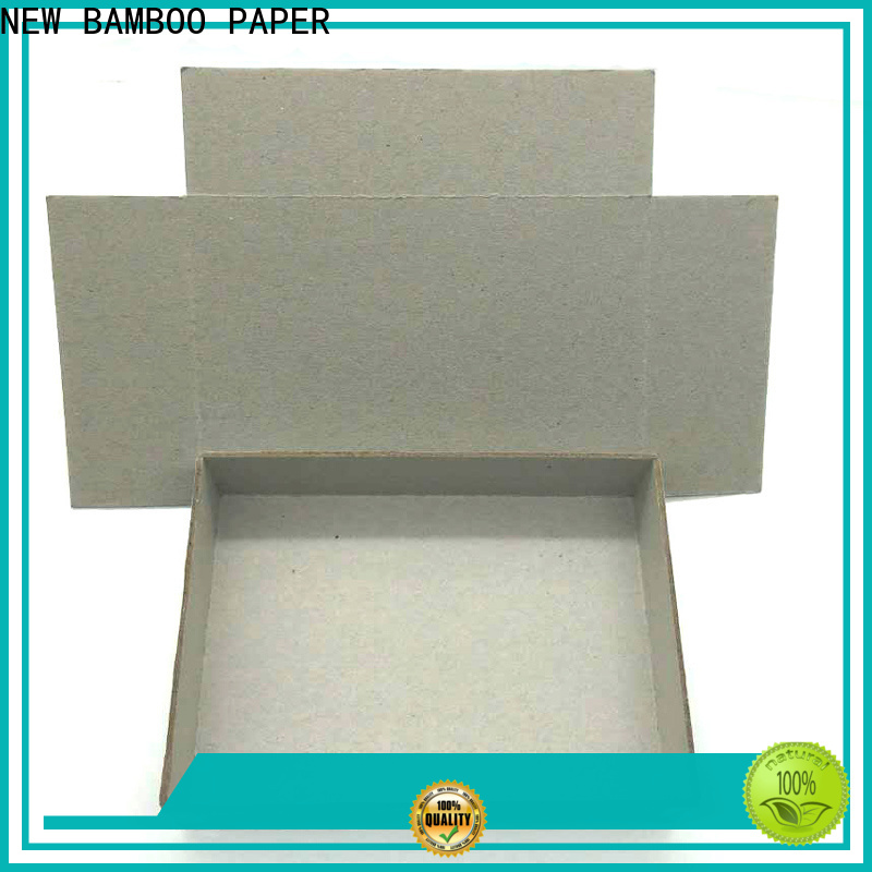 NEW BAMBOO PAPER superior grey cardboard sheets at discount for boxes