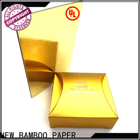 NEW BAMBOO PAPER first-rate cake board foil paper factory price for packaging