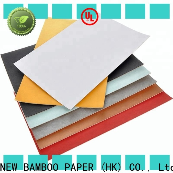 NEW BAMBOO PAPER white duplex board sizes free design for gift box binding