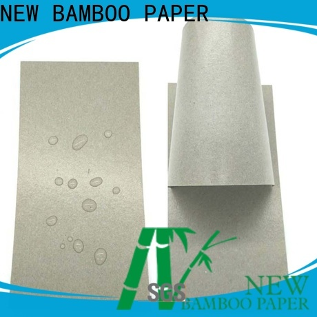 NEW BAMBOO PAPER side pe coated paperboard factory price for trash cans