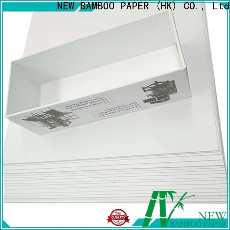 NEW BAMBOO PAPER roll white duplex paper factory price for shoe boxes