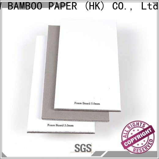 NEW BAMBOO PAPER cover foam board for wholesale for stationery