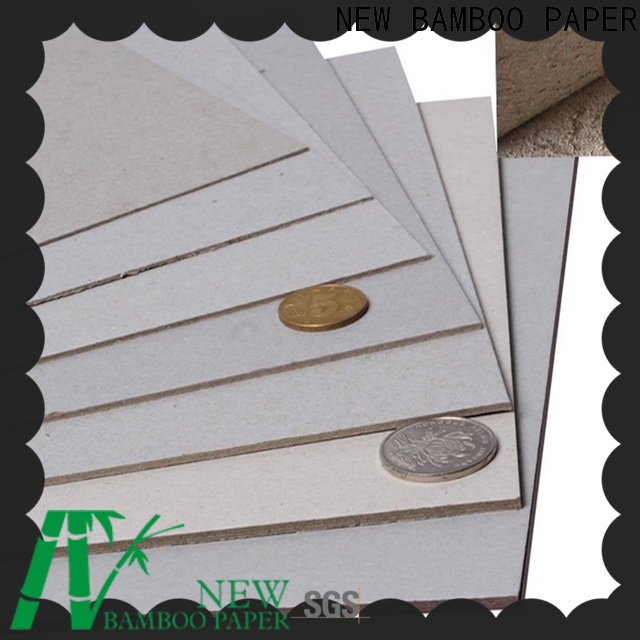 NEW BAMBOO PAPER best flat cardboard sheets bulk production for folder covers