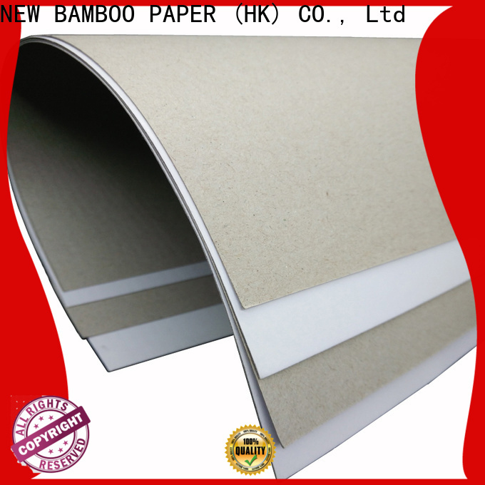 NEW BAMBOO PAPER good-package duplex board grey back from manufacturer for box packaging