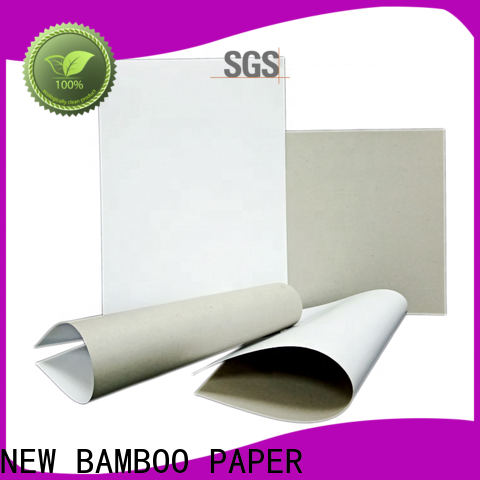 NEW BAMBOO PAPER one coated unbleached kraft paperboard from manufacturer for shoe boxes