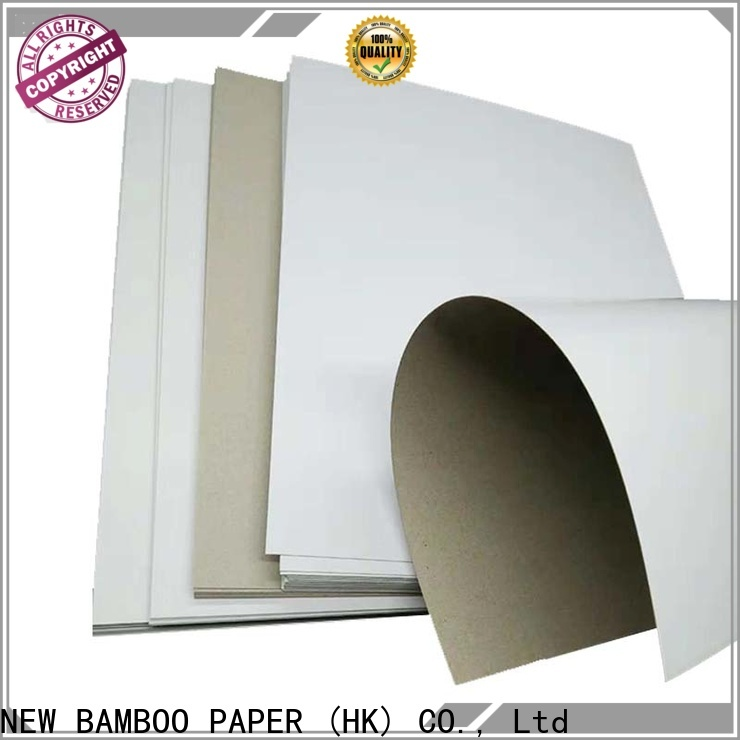 NEW BAMBOO PAPER side white paperboard free design for toothpaste boxes