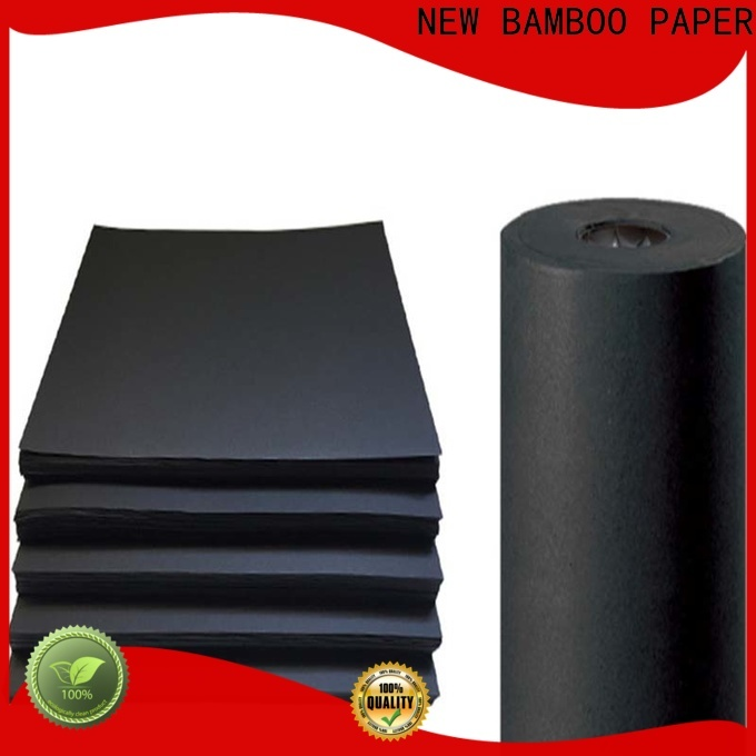 NEW BAMBOO PAPER laminated black cardboard bulk production for booking binding