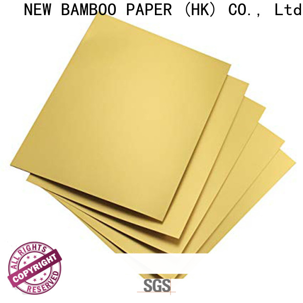 NEW BAMBOO PAPER high-quality metallic foil paper rolls bulk production for cake board