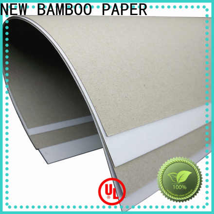 NEW BAMBOO PAPER new-arrival white cardboard paper price from manufacturer for cereal boxes