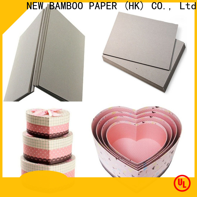 NEW BAMBOO PAPER solid paperboard packaging for folder covers