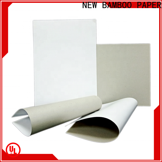 NEW BAMBOO PAPER duplex large white cardboard sheets bulk production for crafts