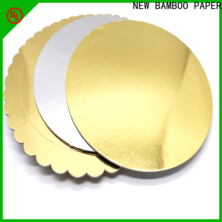 NEW BAMBOO PAPER gold cake board rounds free design for stationery